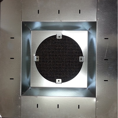 "Model LSP superior grade roof drain sump pan-standard showing a sumped 15"" flat roof drain"