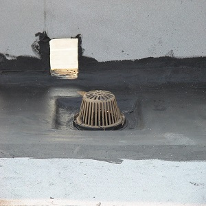 """Properly sumped 15"""" flat roof drain"""