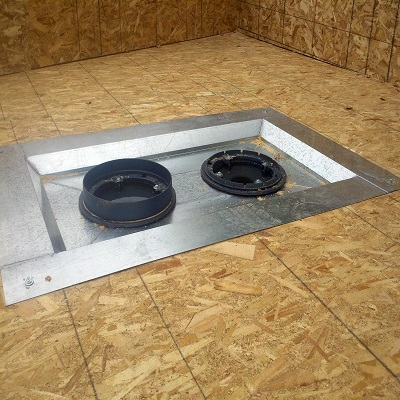 """Model LCP roof drain sump pan is designed to lower or sump a 15"""" combination roof drain and overflow"""