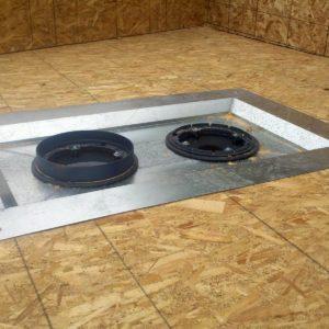 (d) LCP Flat Roof Drain Installation Kit