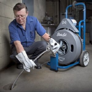 drain cleaning a roof drain pipe