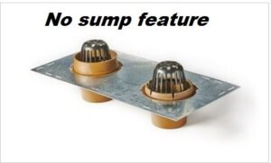 roof drain and overfow, sump receiver