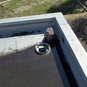 roof drain installation, flat roof drain installation, roof drain installation detail, roof drain installation instructions, roof drainage, roof drainage system, standing rainwater flat roof, LSP roof drain sump pan