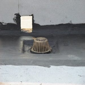 """Model LSP superior grade roof drain sump pan-standard showing a sumped 15"""" flat roof drain"""