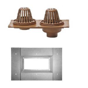 Jay R. Smith 148 roof drain and overflow, combination roof drain, roof drain and overflow, roof drain sump pan, sump pan, roof drain pan