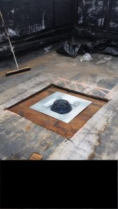 sumped Zurn Z100 primary roof drain eliminates standing rainwater on any flat roof